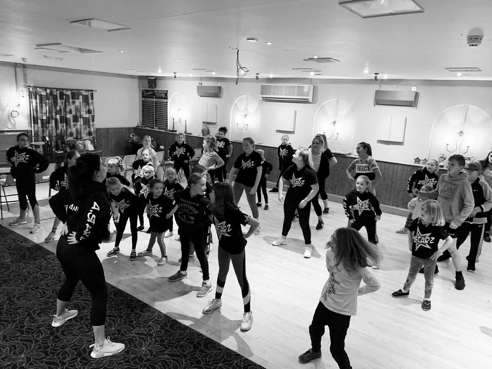 A children's dance class